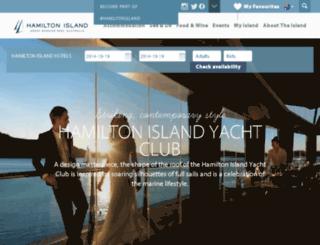 hamiltonislandyachtclub.com.au screenshot