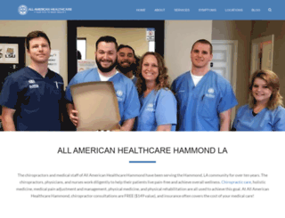 hammond.allamericanhealthcare.net screenshot