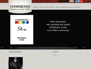 hammondorganco.com screenshot