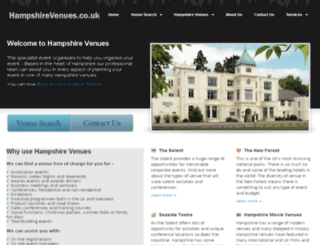 hampshirevenues.co.uk screenshot