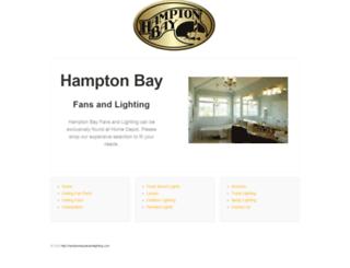 hamptonbayfanandlighting.com screenshot