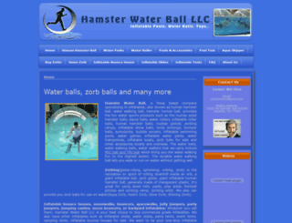 hamsterwaterball.com screenshot