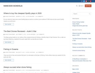 hancockschools.org screenshot