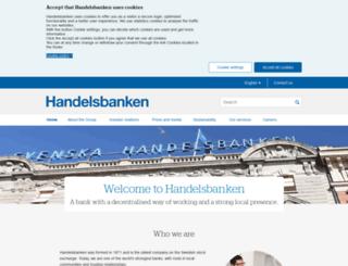 handelsbanken.ee screenshot