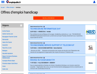 handicap.emploipublic.fr screenshot