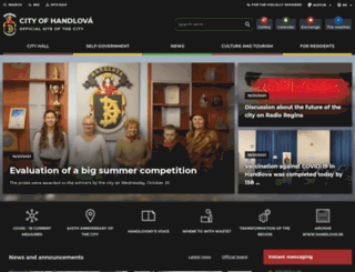 handlova.sk screenshot