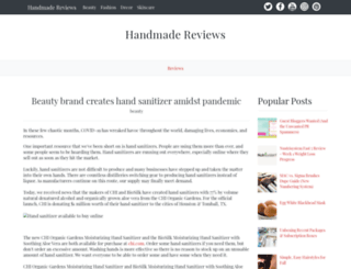 handmadereviews.net screenshot