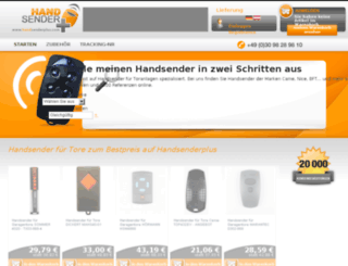 handsenderplus.com screenshot