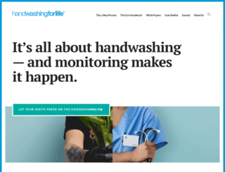 handwashingforlife.com screenshot