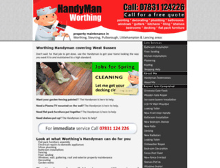 handymanworthing.co.uk screenshot