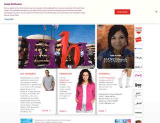 hanesbrands.com screenshot