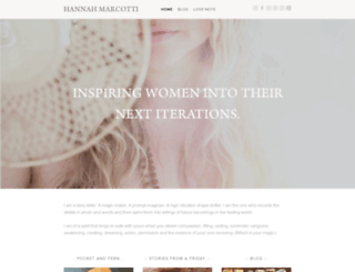 hannahmarcotti.com screenshot