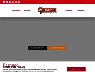 hanoverfoods.com screenshot