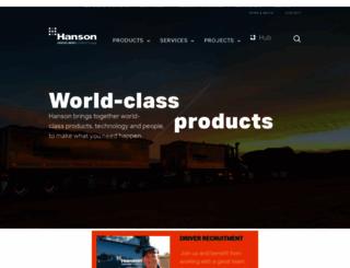 hanson.com.au screenshot
