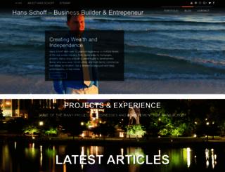 hansschoff.com screenshot