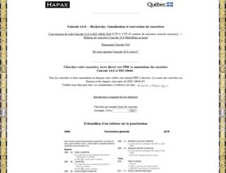 hapax.qc.ca screenshot