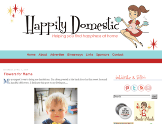 happilydomestic.blogspot.com screenshot