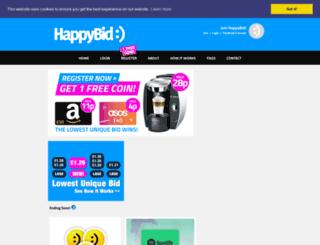 happybid.co.uk screenshot