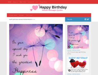 happybirthdaywishesboyfriend.xyz screenshot