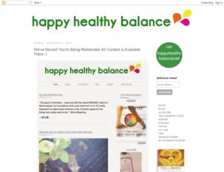 happyhealthybalance.blogspot.com screenshot
