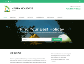 happyholidayskerala.com screenshot