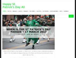 happystpatricksdayall.com screenshot