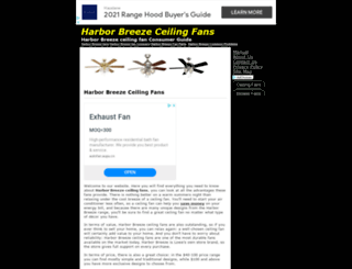 harborbreezeceilingfans.org screenshot