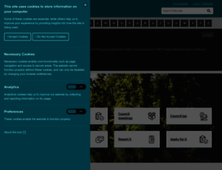 harborough.gov.uk screenshot