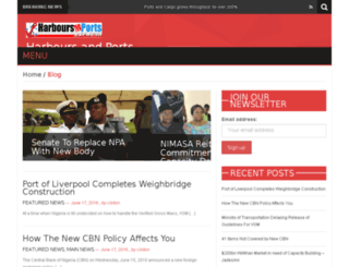 harboursandports.com.ng screenshot