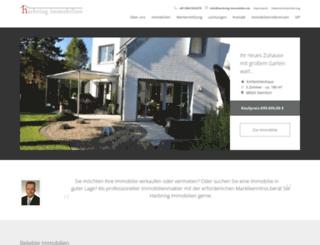 harbring-immobilien.de screenshot