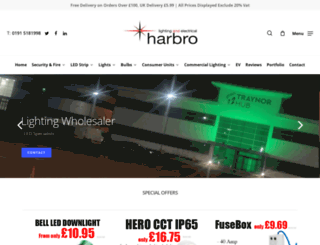 harbroelectrical.co.uk screenshot