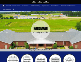 hardemancountyschools.org screenshot