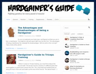 hardgainersguide.com screenshot