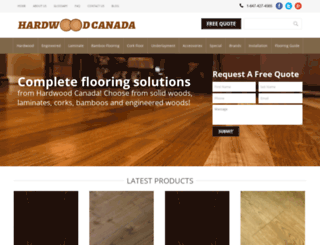 hardwoodcanada.com screenshot