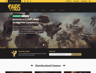 harebrained-schemes.com screenshot