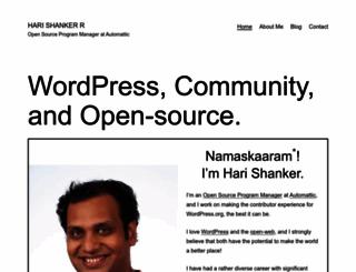 harishanker.net screenshot