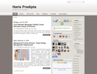 harispradipta.blogspot.com screenshot
