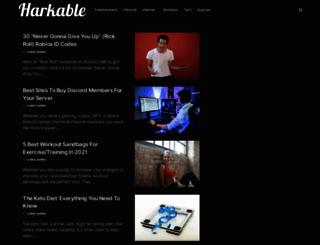 harkable.com screenshot
