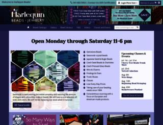 harlequinbeads.com screenshot