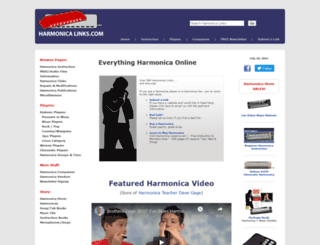 harmonicalinks.com screenshot