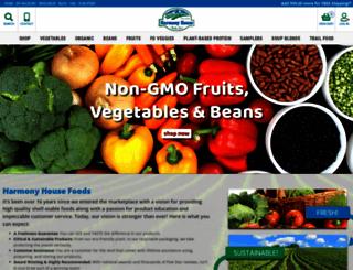 harmonyhousefoods.com screenshot