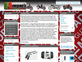 harpermoto.com screenshot