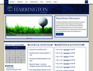 harrington.delaware.gov screenshot