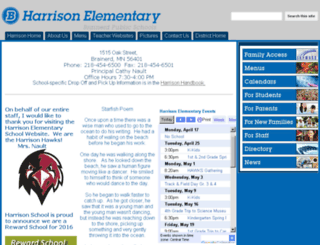harrison.isd181.org screenshot