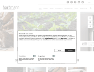 hartmann-moebelwerke.de screenshot