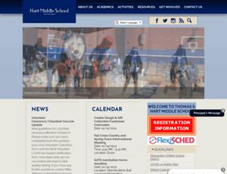 hartmiddleschool.org screenshot
