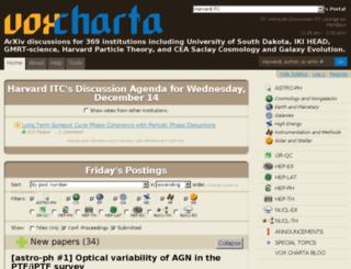 harvard.voxcharta.org screenshot
