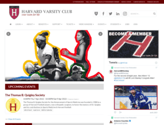 harvardvarsityclub.org screenshot