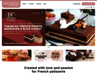 harvestcakes.com screenshot