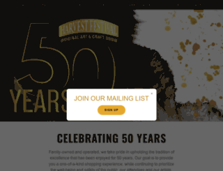 harvestfestival.com screenshot